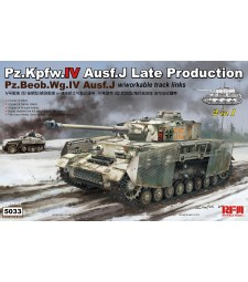 1:35 PZ.KPFW.IV AUSF.J LATE PRODUCTION /PZ.BEOB.WG.IV AUSF.J 2 IN 1 W/WORKABLE TRACK LINKS