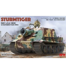 1:35 STURMTIGER W/WORKABLE TRACK LINKS