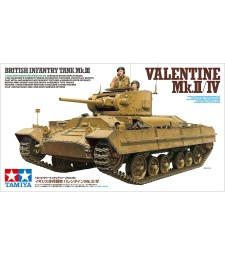 1:35 British Infantry Tank Mk.III Valentine Mk.II/IV - 2 figures