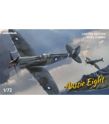 1:72 Aussie Eight DUAL COMBO+book about Australian Spitfires Mk.VIII in English