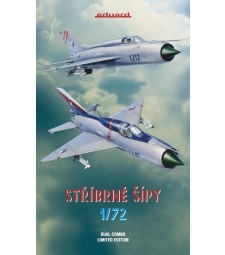 "1:72 ""Stribrne sipy-Silver arrows"" (MiG-21PF and PFM in Czechoslovak Air Force) Limited Edition Dual combo"