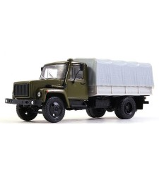 GAZ-3309 Flatbed Truck with Tent, Khaki