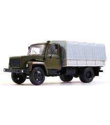 GAZ-3309 Flatbed Truck with Tent, Khaki