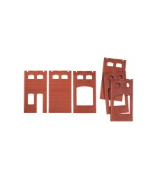 Wall 2410A, walls 2410B and walls 2410D, red