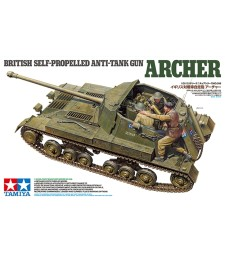 1:35 British Anti Tank Gun Archer - Self Propelled - 3 figures