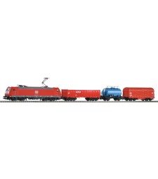 PIKO SmartControl light set freight train BR 185 with 3 freight cars