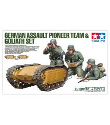 1:35 German Assault Pioneer Team & Goliath Set - 3 figures