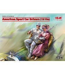 1:24 American Sport Car Drivers  (1910s) (1 male, 1 female figures)  (100% new molds)