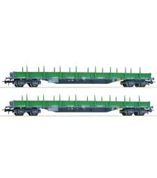 2 piece set: Stake wagons, RENFE