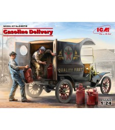 1:24 Gasoline Delivery, Model T 1912 Delivery Car with American Gasoline Loaders - 2 figures