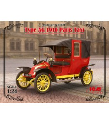 1:24 Type AG 1910 Paris Taxi (100% new molds)