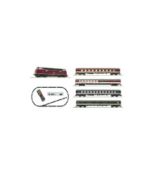 "z21 start Digital starter set: Locomotive class 221 and express train (""Popfarben""), DB, epoch IV"