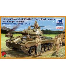 1:35 US Light Tank M-24 'Chaffee' (Early Prod.)  w/Crew (NW Europe)