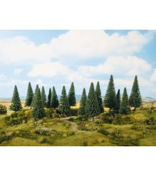 Fir Trees (H0, TT, N, Z) 8 pieces, 10-14 cm