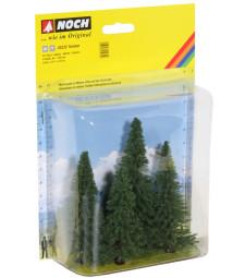 Fir Trees. 4 pcs. 8 - 12 cm high