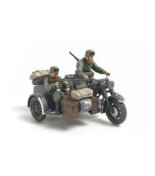 1:48 German Bike & Sidecar - 2 figures