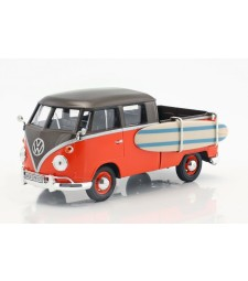 VW T1, Metallic-braun/Light red Pick Up with Surfboard