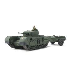 1:48 British Tank Churchill Mk.VII - Crocodile - 1 figure