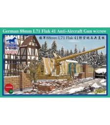 1:35 German 88mm L71 Flak 41 Anti-Aircraft Gun w/Crew