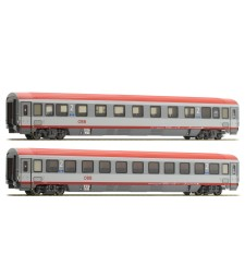 "Two-piece set EC 84-cars ""Bologna - Munich"",(ÖBB), epoch VI."