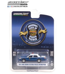 Anniversary Collection Series 12 - 2011 Ford Crown Victoria Police Interceptor - Kansas Highway Patrol 75th Anniversary Unit Solid Pack