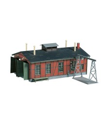 Narrow gaugeengine shed with gantry crane  H0