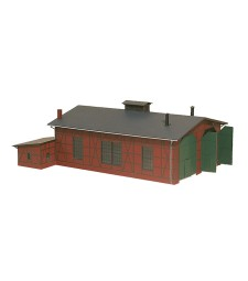 Two-tier locomotive shed (258 x 170 x 102 mm)