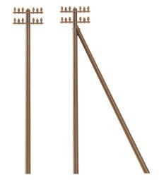 12 telegraph poles   H0