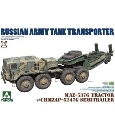 1:72 MAZ-537G Tractor with CHMZAP 5247G Semi Trailer