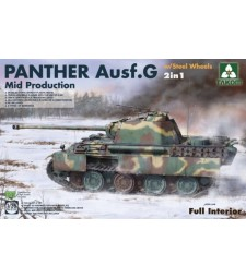 1:35  WWII German medium Tank   Panther Ausf.G  Mid  production w/ Steel Wheels 2 in 1