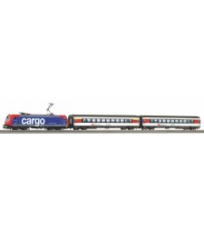 SmartControl light S-Set SBB EC Re 484 with 3 Wgons and A-Track with Railbed