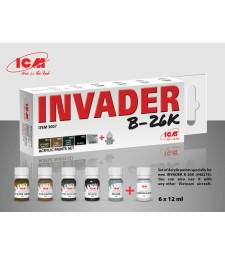 Acrylic Paint Set for Invader B-26K (and other Vietnam aircraft) (6x12 ml)