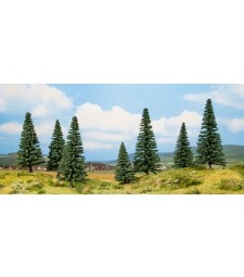 Fir trees - 8 and 14 cm high, 7 pieces - TREE CUBE