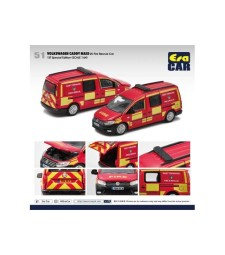 Volkswagen Caddy ,Maxi 1st Special Edition, UK Fire Rescue Car, Red/Yellow