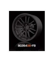 1:64 RACING Wheels & Tyres Set 8MM-9.8MM FLAT BLACK - 4 pcs