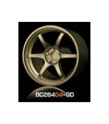 1:64 RACING Wheels & Tyres Set 8MM-9.8MM GOLD - 4 pcs