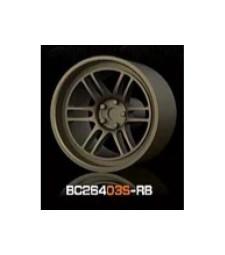 1:64 RACING Wheels & Tyres Set 7.4MM-8.9MM BRONZE - 4 pcs