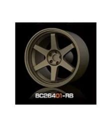 1:64 RACING Wheels & Tyres Set 8MM-9.8MM BRONZE - 4 pcs