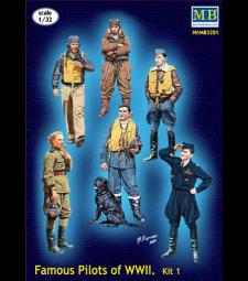 1:32 Series Famous pilots of WWII era, kit No.1 - 6 figures