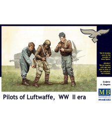1:32 Pilots of Luftwaffe, WW II era - 3 figures