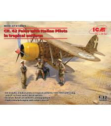 1:32 CR. 42 Falco with Italian Pilots in tropical uniform
