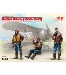 1:32 British Pilots (1939-1945) (3 figures) (100% new molds)