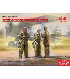 1:32 WWII China Guomindang AF Pilots (100% new molds)