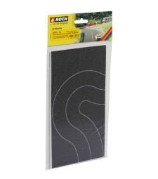 Country Road Curve asphalt, 2 pieces, each