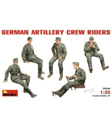 1:35 German Artillery Crew Riders - 5 figures