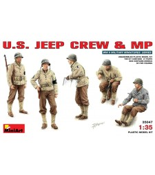 1:35 U.S. Jeep Crew - 5 figures