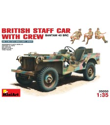 1:35 British Staff Car with Crew - 3 figures