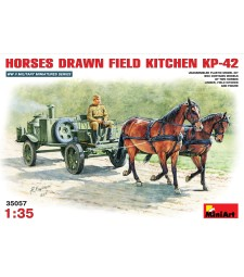1:35 Horses drawn field kitchen KP-42  - 1 figure