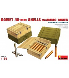 1:35 Soviet 45-mm Shells w/ Ammo Boxes