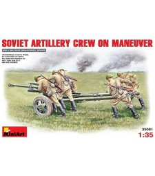 1:35 Soviet Artillery Crew on Maneuver - 5 figures